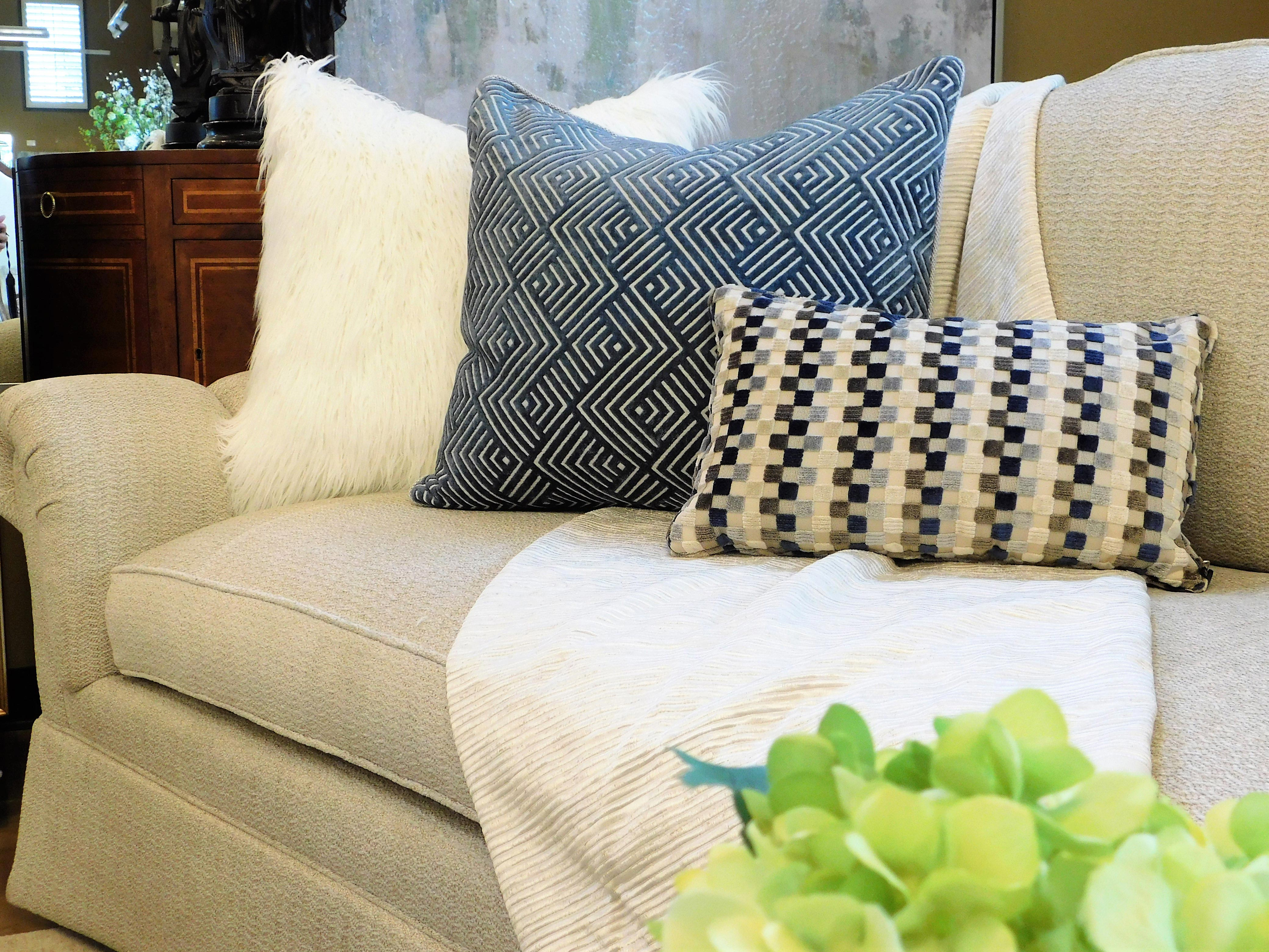 How To Mix And Match Pillows On A Sofa