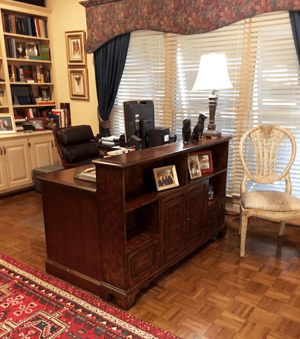 remodeled home office for empty nesters