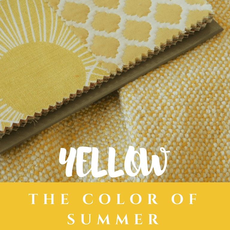 yellow fabric interior design