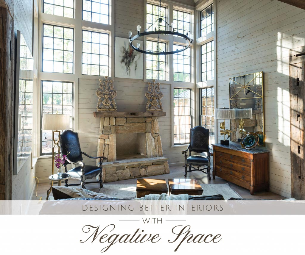 Title Image for the blog Designing Better Interiors with Negative Space